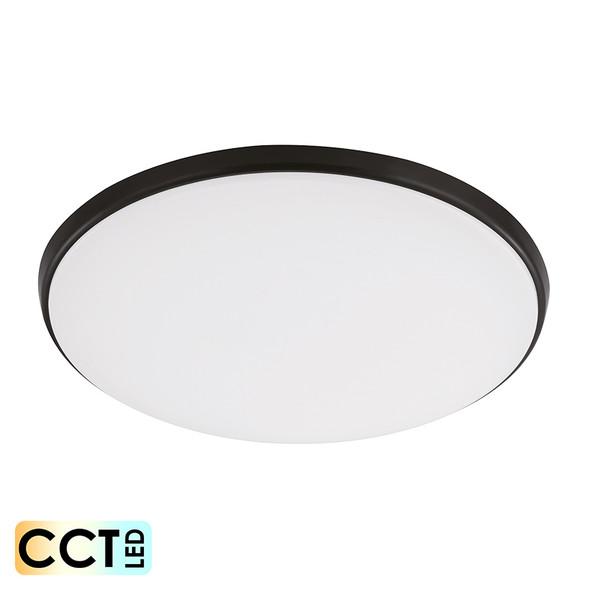 Eglo Ollie 18w CCT LED Ceiling Oyster Black