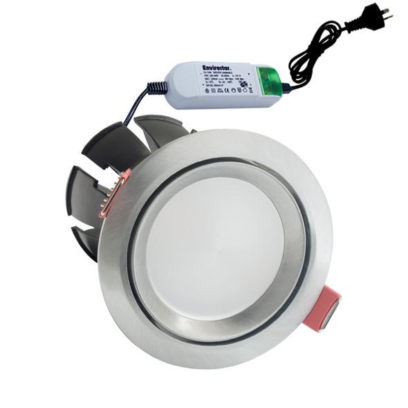 Envirostar Rotary 12w 3000K LED Down Light Round Nickel