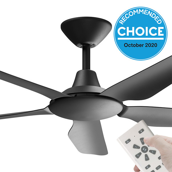 Airborne Storm DC Motor 132cm Black & Remote Ceiling Fan