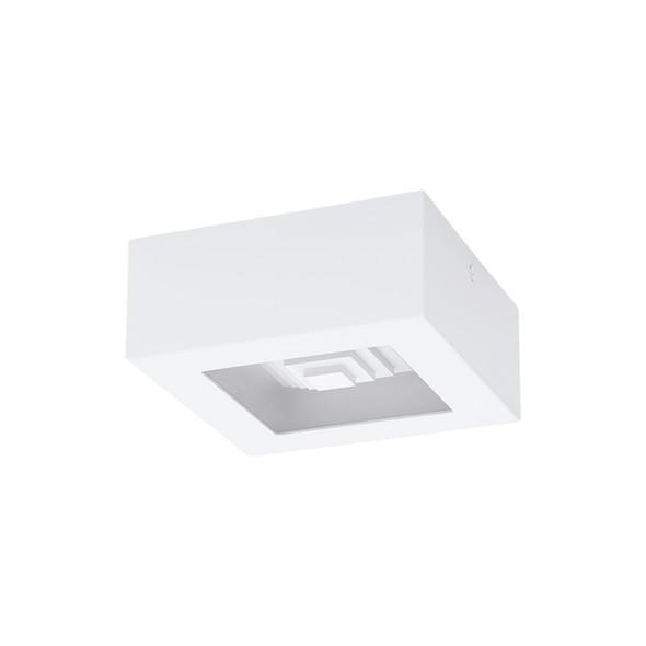 Eglo Ferreros 6.3w 3000K LED Square Ceiling/Wall Light White