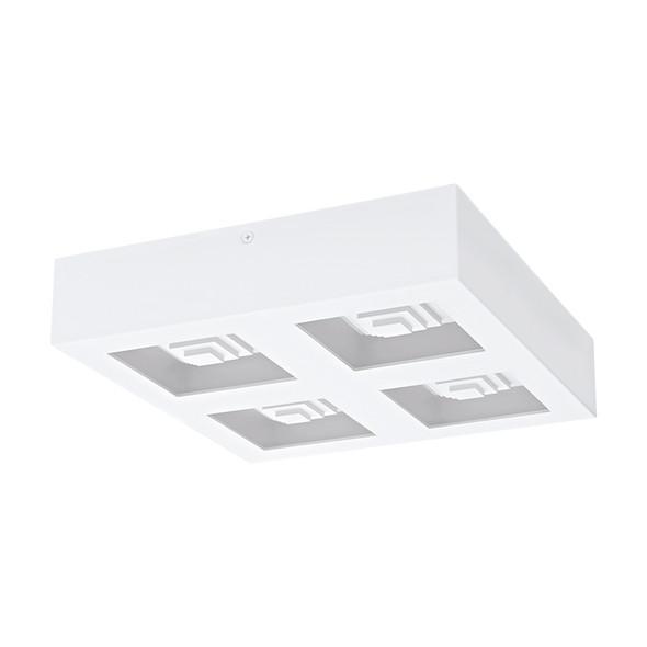 Eglo Ferreros 4 X 6.3w 3000K LED Square Ceiling/Wall Light White