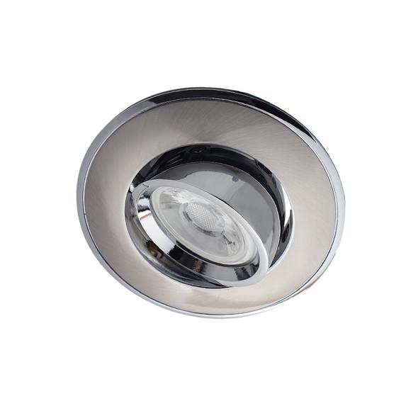 BP 3042A-GF GU10 LED Down Light Gimble Satin Nickel & Chrome