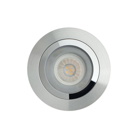 BP DL5600/AC50 GU10 LED Down Light Satin Nickel & Chrome