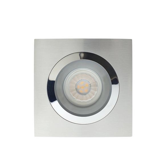 BP DL5601/AC50 GU10 LED Square Down Light Satin Nickel & Chrome