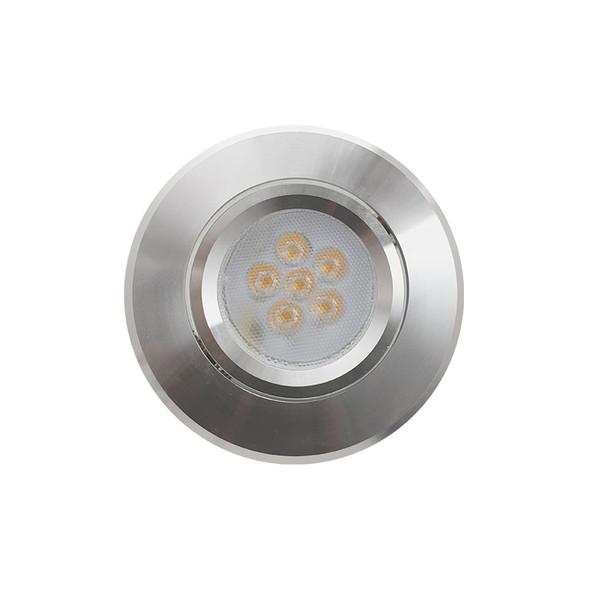Basic MR16 LED Aluminium Down Light Gimble Silver