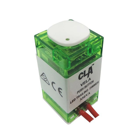 CLA Vela Trailing Edge 350VA Push Button LED Dimmer
