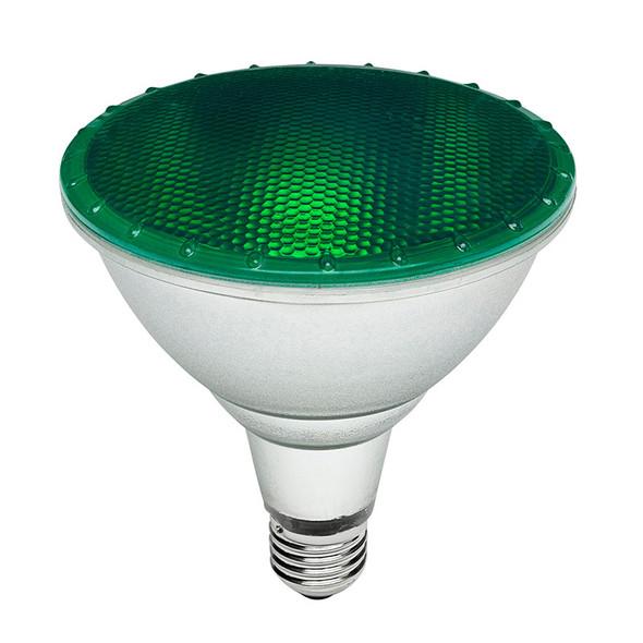 Brilliant 15w E27 LED PAR38 Green
