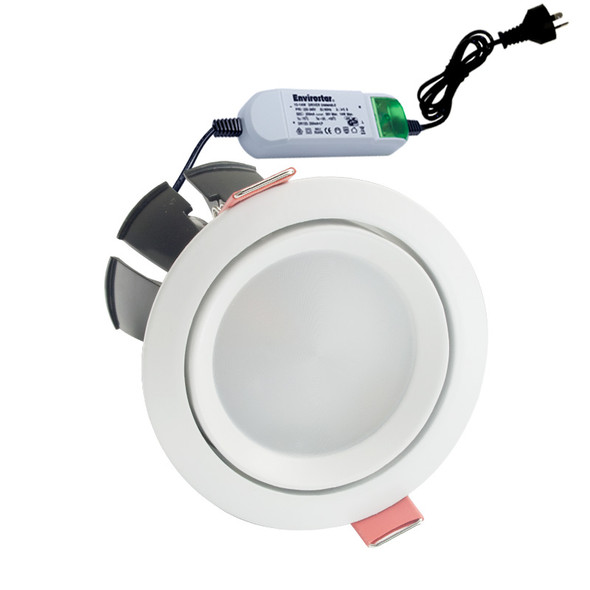 Envirostar Rotary 12w 3000K LED Down Light Round White