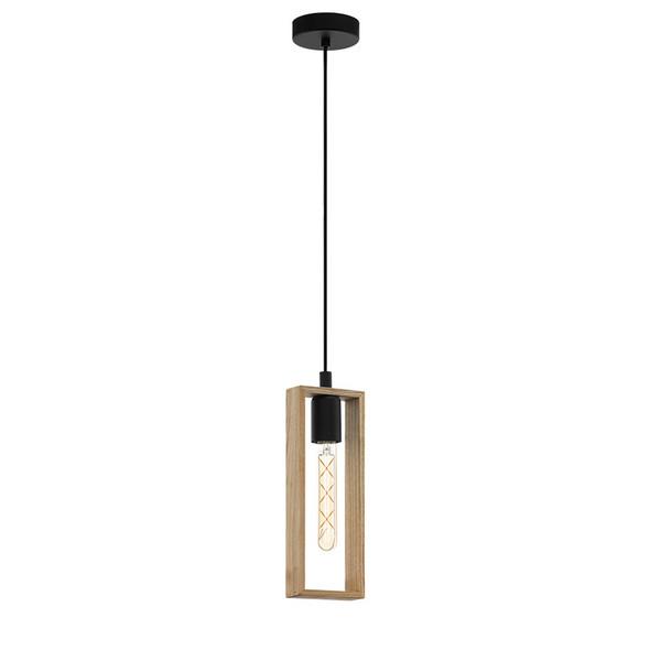 Eglo Littleton Small 1lt Hanging Timber Pendant