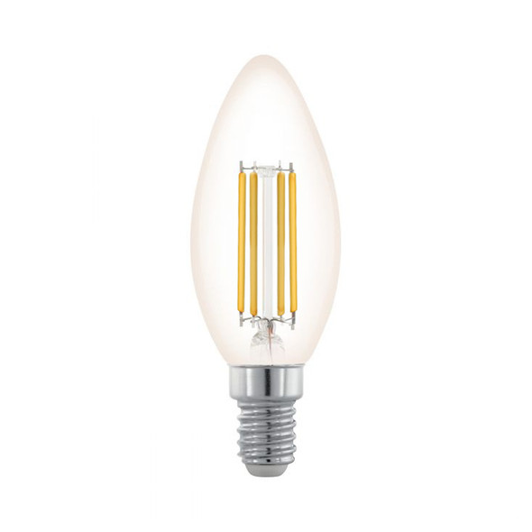 Eglo 3.5w E14 LED DIMMABLE Clear Candle 2200K Warm White