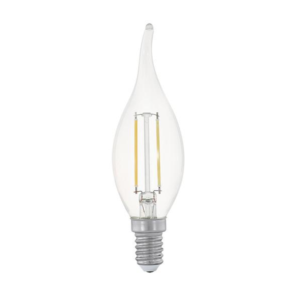 Eglo 2w E14 LED Clear Flame Candle 2700K Warm White