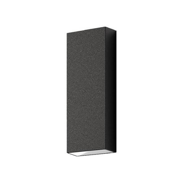 Domus Edge 8 LED Interior/Exterior Up/Down Wall Light Black