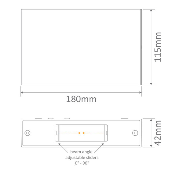 Domus Sierra 12 LED Interior/Exterior Up/Down Wall Light Black