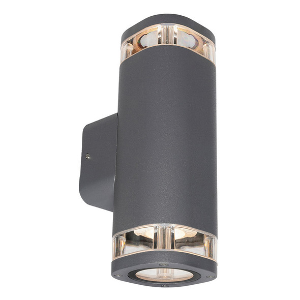 Brilliant Glenelg Ambient LED GU10 Exterior Up/Down Wall Light Charcoal