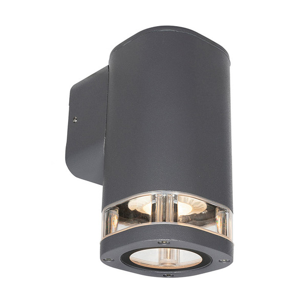Brilliant Glenelg Ambient LED GU10 Exterior Wall Down Light Charcoal