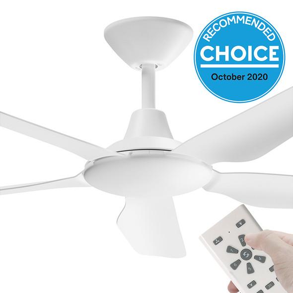 Airborne Storm DC Motor 122cm White & Remote Ceiling Fan
