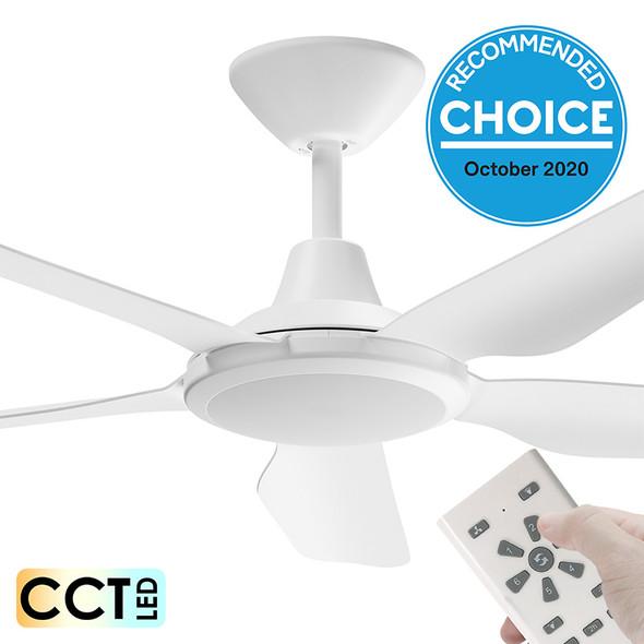 Airborne Storm DC Motor 122cm White LED Light & Remote Ceiling Fan