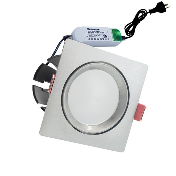 Envirostar Rotary 12w 3000K LED Down Light Square Nickel
