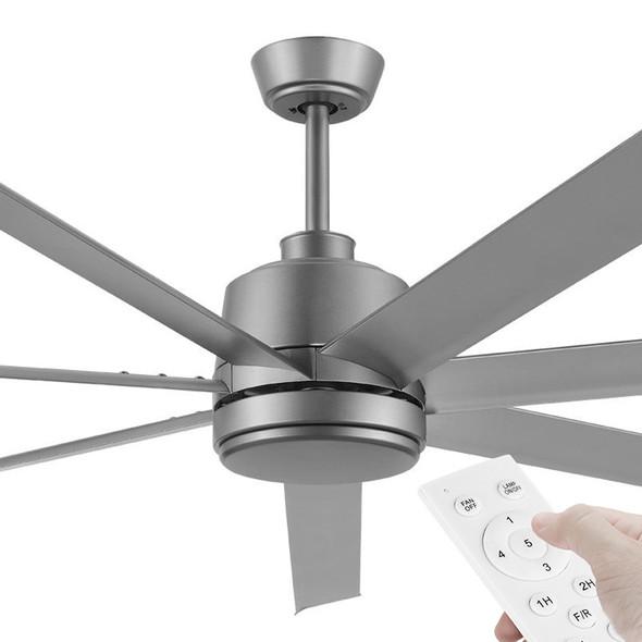 Eglo Tourbillion DC Motor 203cm Titanium & Remote Ceiling Fan