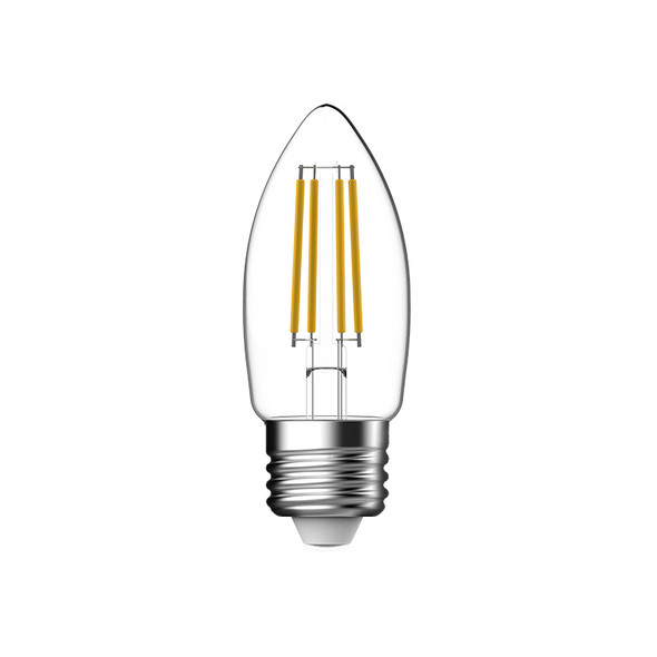 CLA 4w E27 LED DIMMABLE Clear Candle 2700K Warm White