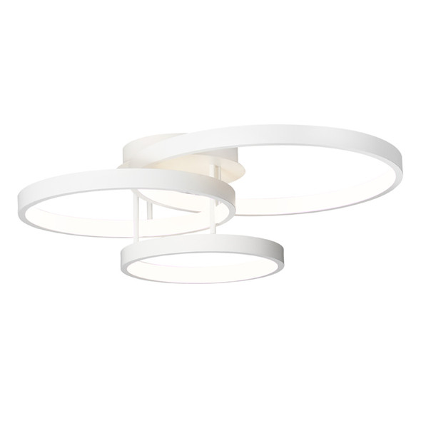 Cougar Zola 84w 3 Ring LED Close To Ceiling Light White