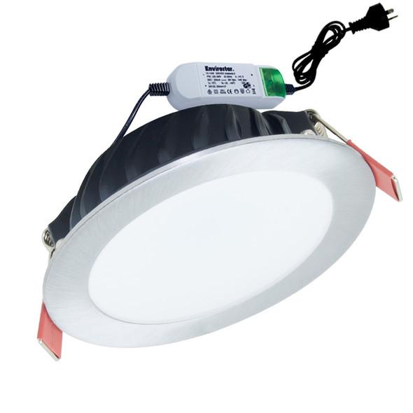Envirostar Flat 100 12w 3000K LED Down Light Nickel