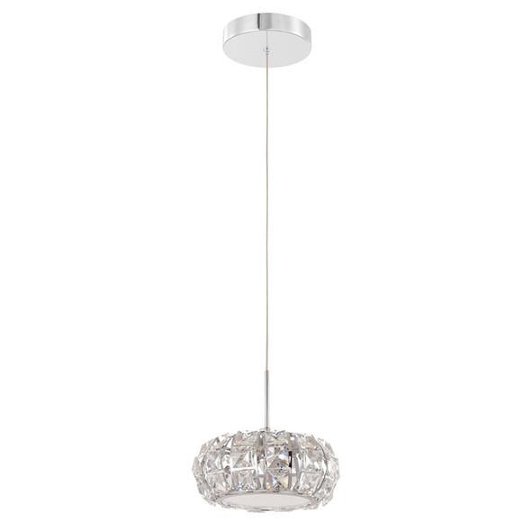 Eglo Corliano 1lt LED Crystal Hanging Pendant 4000K