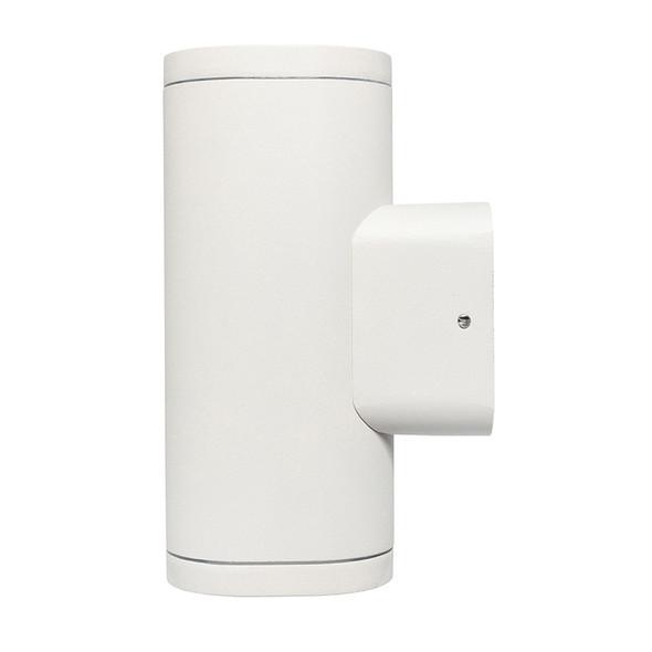 Brilliant Glenelg Plain LED GU10 Exterior Up/Down Wall Light White