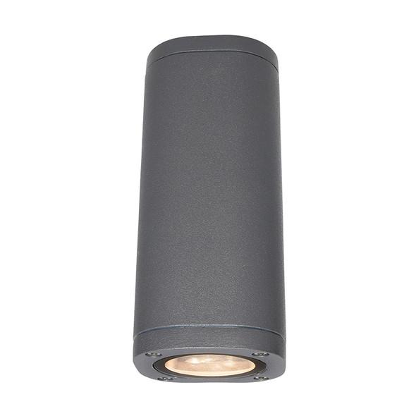 Brilliant Glenelg Plain LED GU10 Exterior Up/Down Wall Light Charcoal