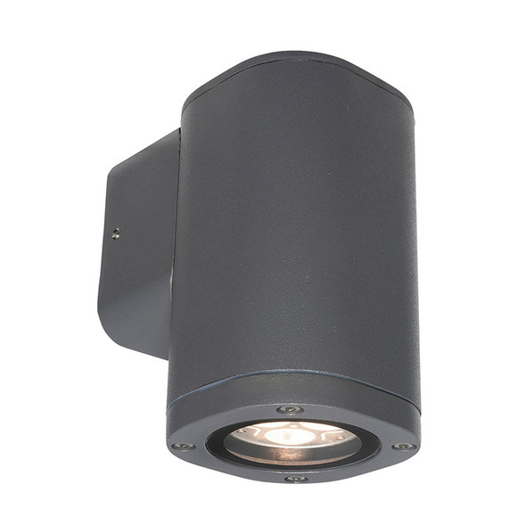 Brilliant Glenelg Plain LED GU10 Exterior Wall Down Light Charcoal