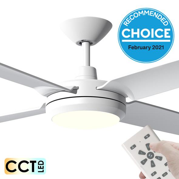Airborne Enviro DC Motor 152cm White LED Light & Remote Ceiling Fan