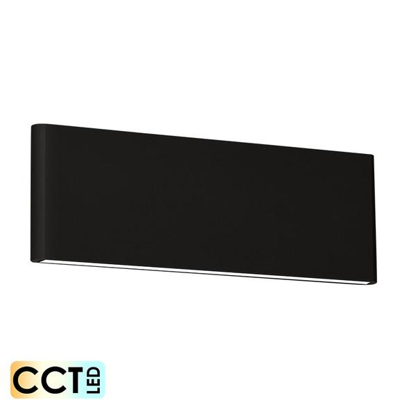 Eglo Climene Flat Up/Down CCT LED Wall Light Black