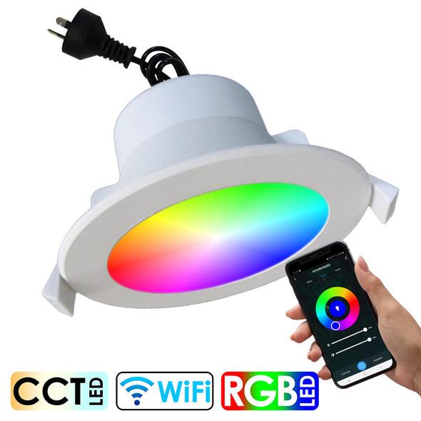 CLA SMTNOVA1 9w Smart Wi-Fi RGB CCT LED Down Light White