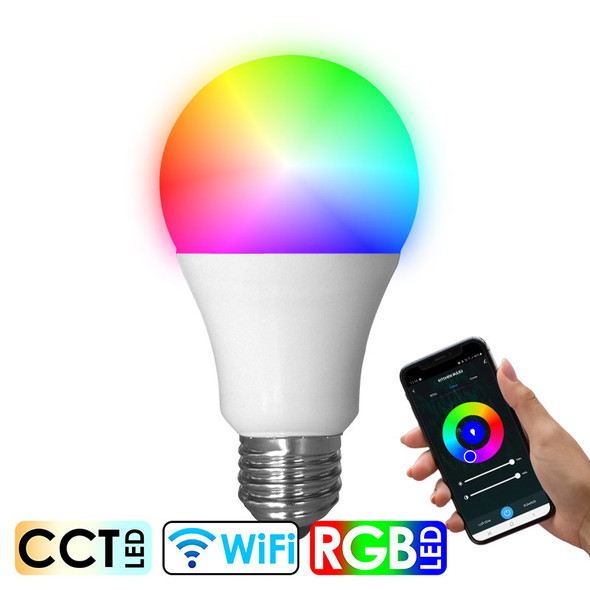 CLA SMTGLS1 10w E27 Smart Wi-Fi RGB CCT LED GLS Globe