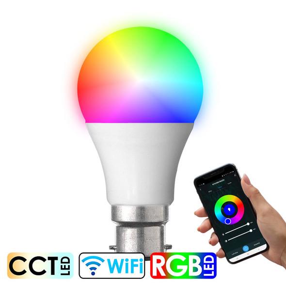 CLA SMTGLS2 10w B22 Smart Wi-Fi RGB CCT LED GLS Globe