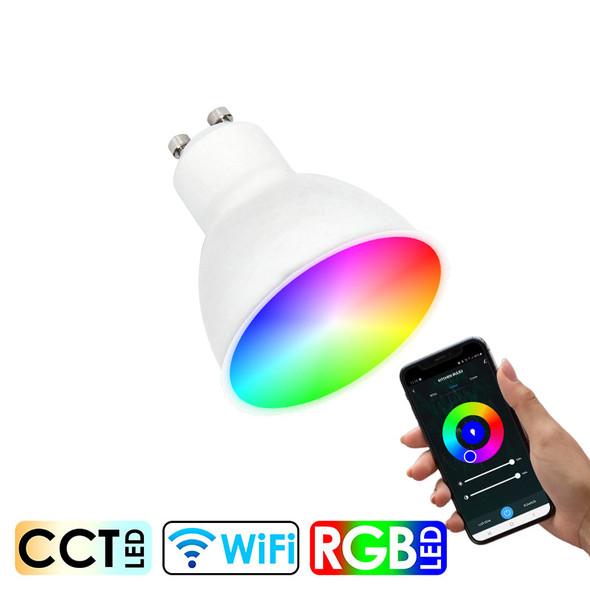 CLA SMTGU101 5w GU10 Smart Wi-Fi RGB CCT LED Globe