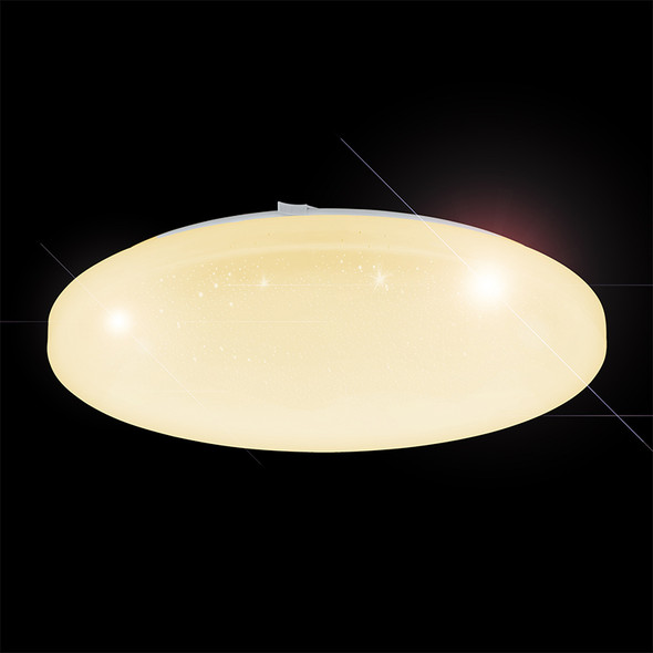 Diego 24w CCT LED Crystal Look Ceiling Oyster