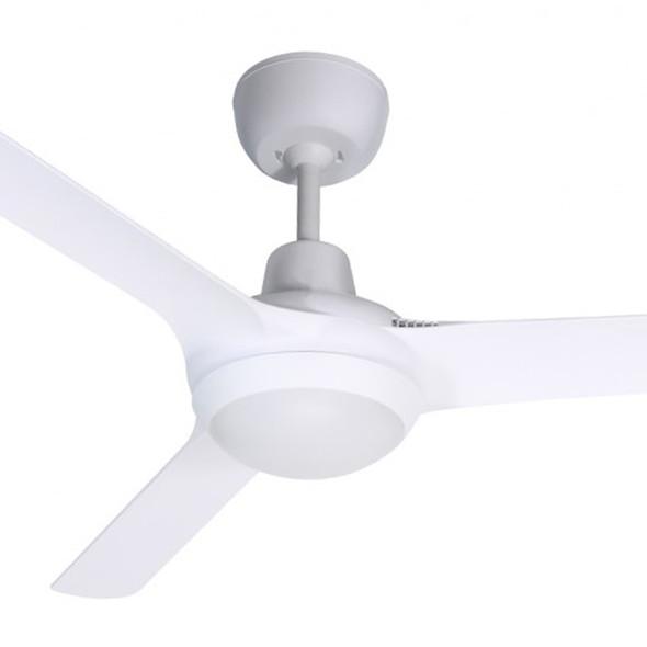 Ventair Spyda 125cm Satin White Plastic Indoor/Outdoor Ceiling Fan & LED Light