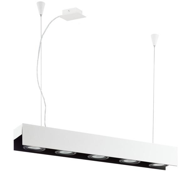 Eglo Badalona 5lt LED Black & White Hanging Pendant