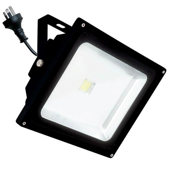 Brilliant Avenger 30w 4200K LED Flood Light Black