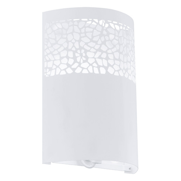 Eglo Carmelia White Metal Pattern Wall Light