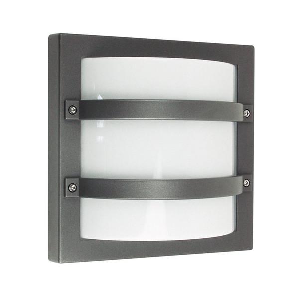 Oriel Largo Square Aluminium Exterior Wall Light Graphite