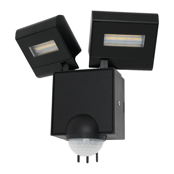 Mercator Cheetah 2 X 11w LED Exterior Spotlight & Sensor Black