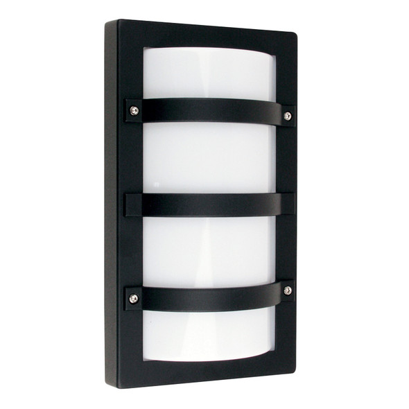 Oriel Trio Rectangle Aluminium Exterior Wall Light Black