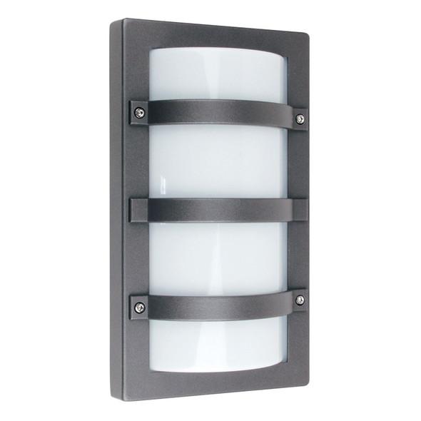 Oriel Trio Rectangle Aluminium Exterior Wall Light Graphite