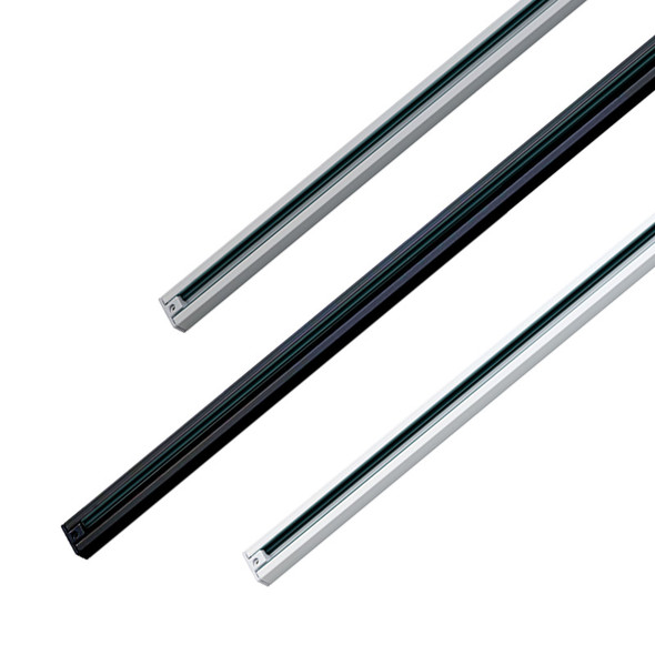 BP 3 Wire Track 3m Including Live End Available In Silver, White Or Black