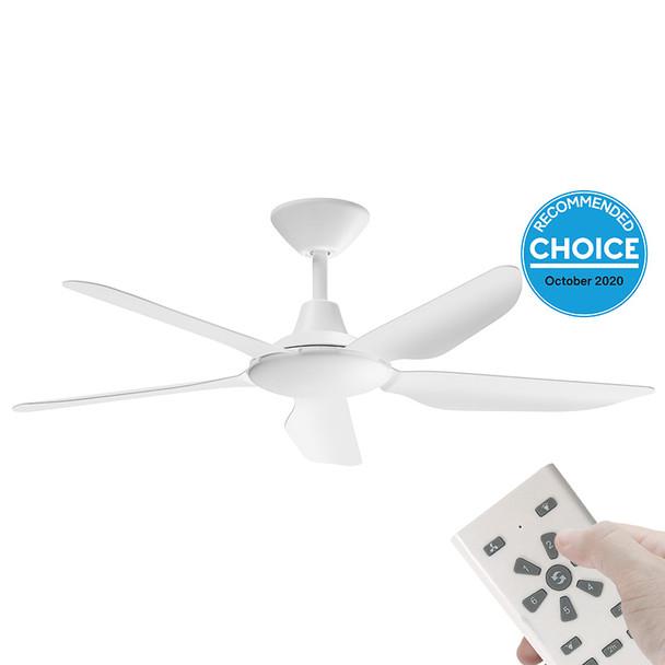 Airborne Storm DC Motor 132cm White & Remote Ceiling Fan