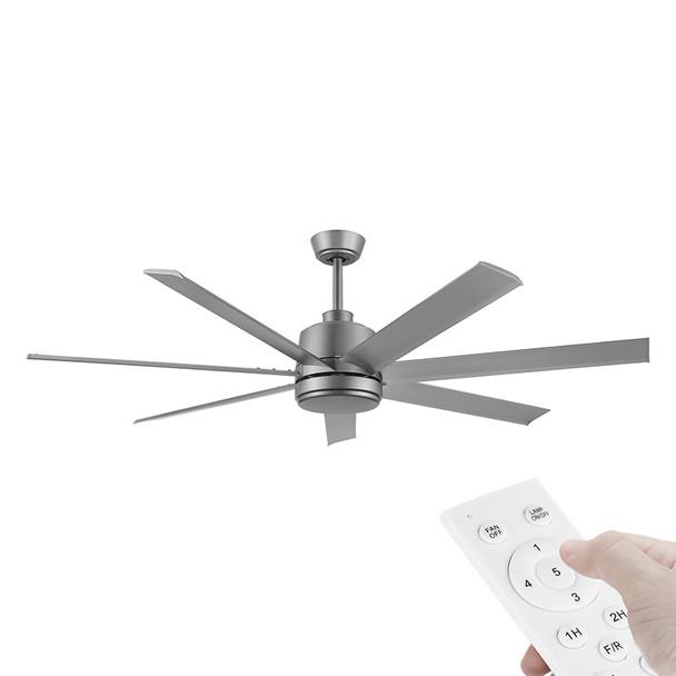 Eglo Tourbillion DC Motor 152cm Titanium & Remote Ceiling Fan