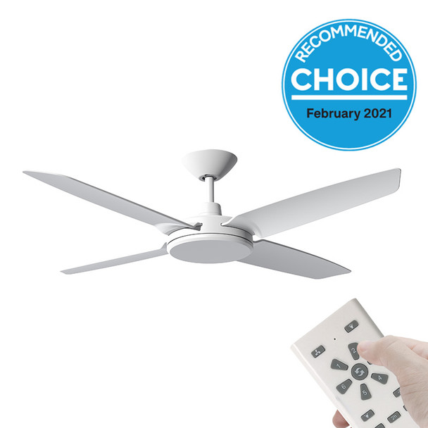 Airborne Enviro DC Motor 132cm White & Remote Ceiling Fan