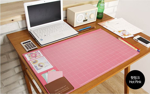 Desk pad basic (hotpink)